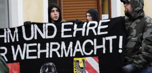Demonstration von Neonazis