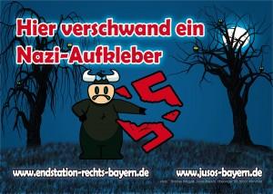 Motiv 5: Hier verschwand ein Nazi-Aufkleber