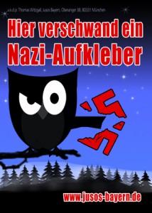 Motiv 7: Hier verschwand ein Nazi-Aufkleber