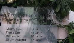 Gedenktafel für die Opfer des Brandanschlags
