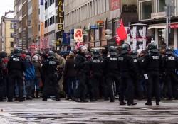 Blockade gegen den Naziaufmarsch