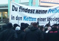 Nazis vor Banner ASH