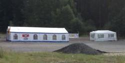 Rottenbach: auf diesem Grundstück soll der NPD-Bundesparteitag stattfinden (Foto: Endstation Rechts.Bayern)