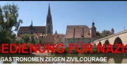 """Screenshot Internetseite """"Keine Bedienung für Nazis – Regensburger Gastronomen zeigen Zivilcourage"""""""