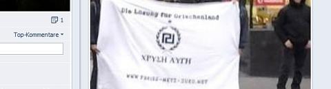 Screenshot:: FNS-Transparent bei den Angriffen in Aachen