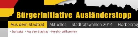 Screenshot Internetseite der BIA Nürnberg