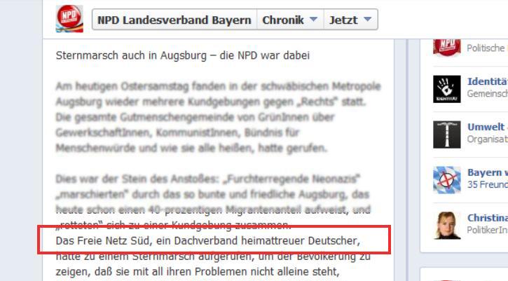 NPD Bayern Freies Netz Süd