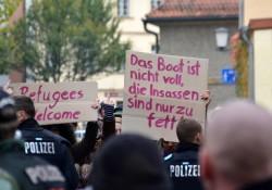 Bamberg -  Protest am Rande der rechten Demo