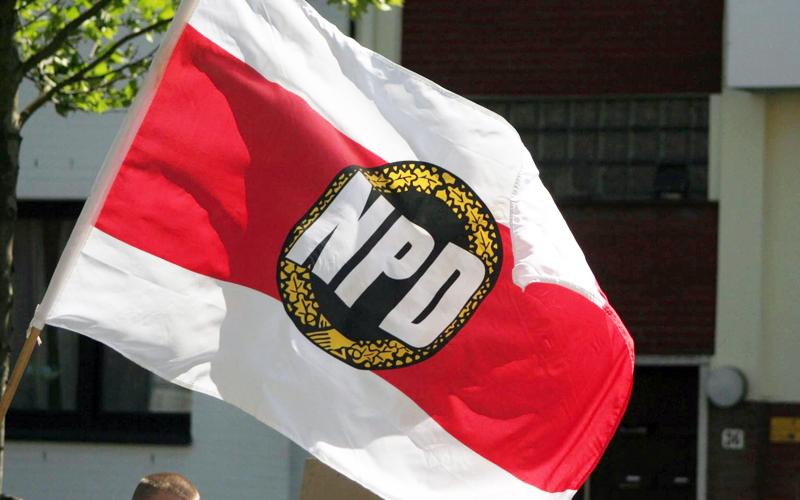 NPD-Fahne (Foto: Endstation Rechts.)