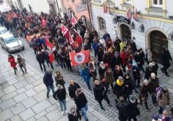 Der Demonstrationszug in der Passauer Innenstadt