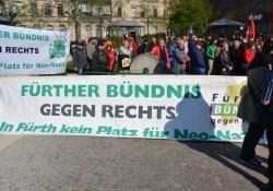 Banner Fürther Bündnis gegen Rechts
