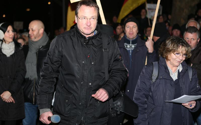 Stürzenberger und Weißmann gehen wohl zukünftig getrennte Wege.  Foto: Marcel Bauer (Archiv)