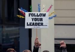 München: Schil bei den Gegendemonstranten