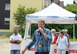 Stürzenberger und seine Partei Die Freiheit bei einer Kundgebung in Pfaffenhofen (Archiv)