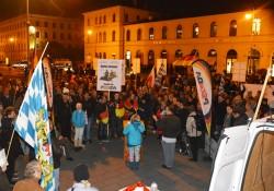 Pegida spricht davon, sie wären 500 Teilnehmer gewesen