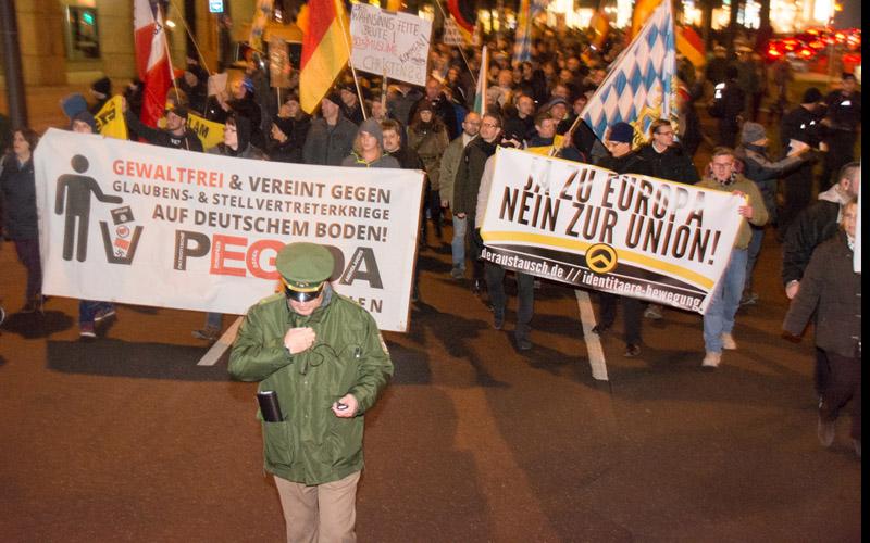 Pegida und die Identitäre Bewegung - eindeutig rechtslastig