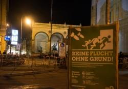 Werbung für Veranstaltung der Grünen nahe Pegida