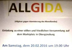 Pegida wusste von der Veranstaltung, die Behörden nicht.  Screenshot Facebook-Seite Pegida Bayern