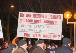 Schild bei Pegida Nürnberg