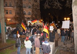 Blick auf Pegida Nürnberg kurz nach Beginn
