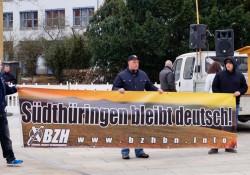 Bündnis Zukunft Hildburghausen (BZH) war schon häufiger auf extrem rechten Demos in Bayern