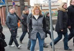 Eising und Biller auf dem Weg zur Wahlparty mit dem Rest der AfD