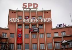 Die Nürnberger SPD-Zentrale mit eindeutigen Botschaften Richtung Nügida