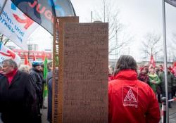 Gedenkstele für die im NS-Regime ermordeten Nürnberger Sozialdemokraten
