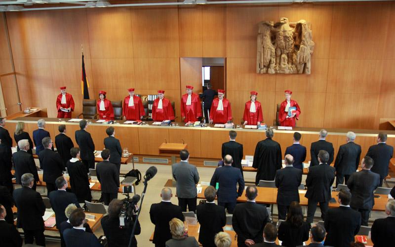 Bundesverfassungsgericht bei der Eröffnung des Verfahrens