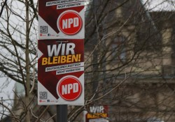 NPD-Plakatierung extra zum Verfahren