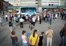 Blick auf die wenigen Teilnehmer zur Hälfte der Veranstaltung