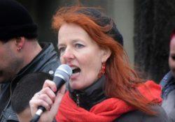 Sigrid Schüßler wenige Tage nach dem Rauswurf bei einer Veranstaltung in Bamberg