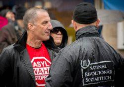 Münchens Pegida-Organisator Heinz Meyer bei den Neonazis vom Dritten Weg